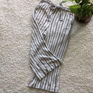 Women's culotte front tie wide leg cropped pants